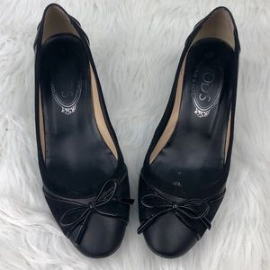 TODS Gommino Black Bow Leather Pump